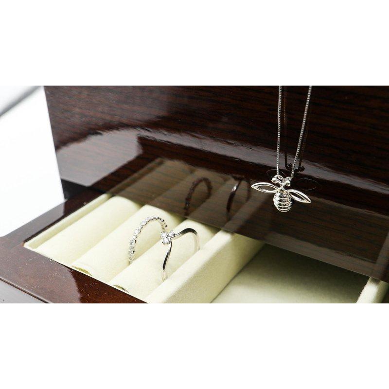 Diamond Days Bee Pendant with Brown Diamonds
