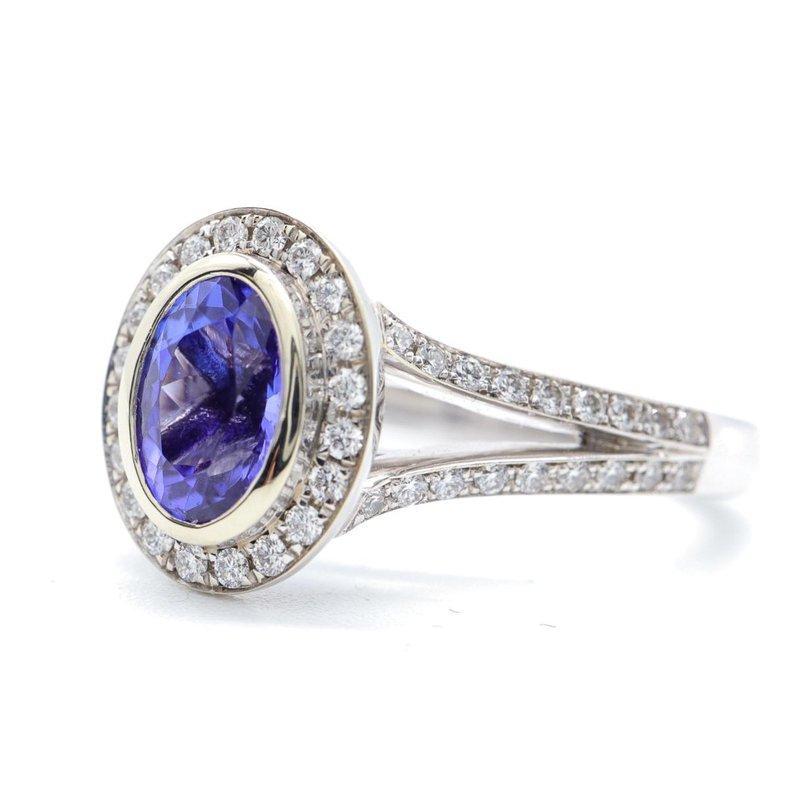 Richardson Signature Tanzanite & Diamond Ring