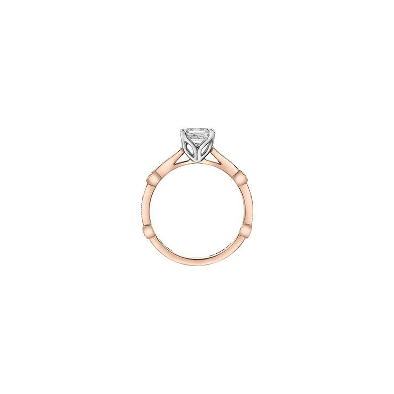Maple Leaf Diamonds Princess-Cut Engagement Ring