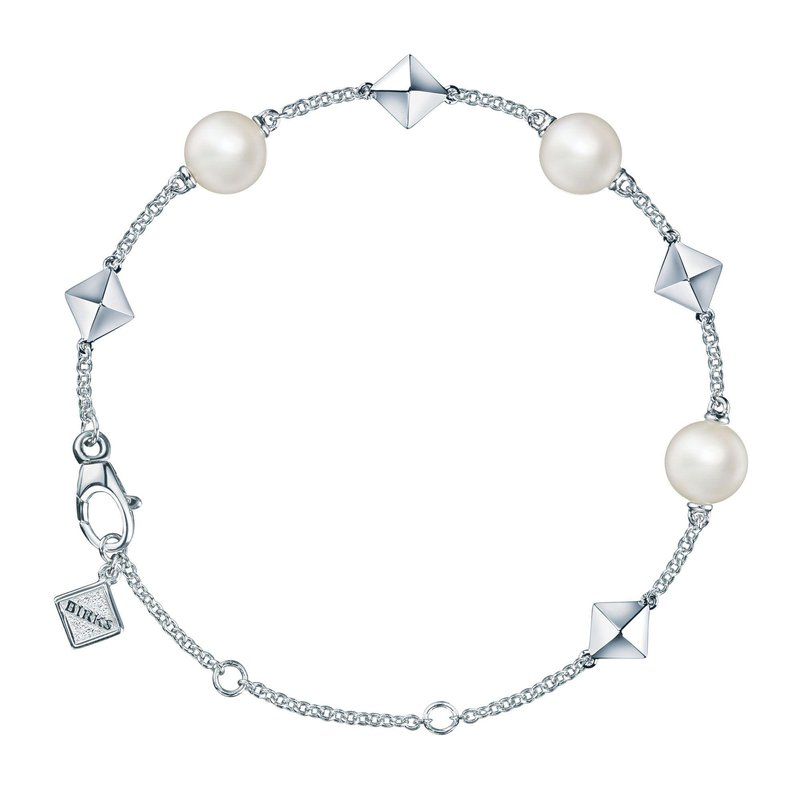 BIRKS ROCK & PEARL- Freshwater Pearl and Stud Silver Bracelet
