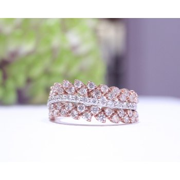 Two Tone Right-Hand Diamond Ring