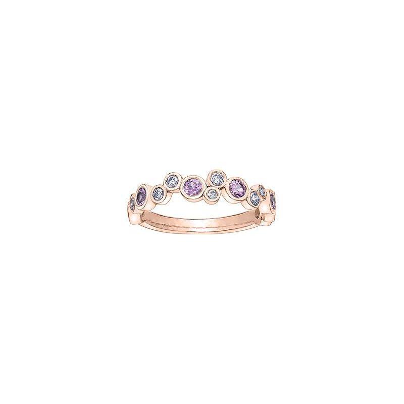 Diamond Days Pink Sapphire & Diamond Bubble Ring