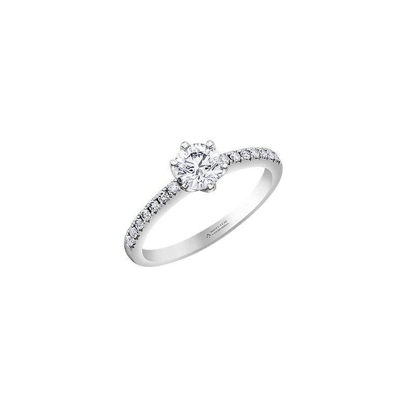 Maple Leaf Diamonds 6-Claw Diamond Engagement Ring