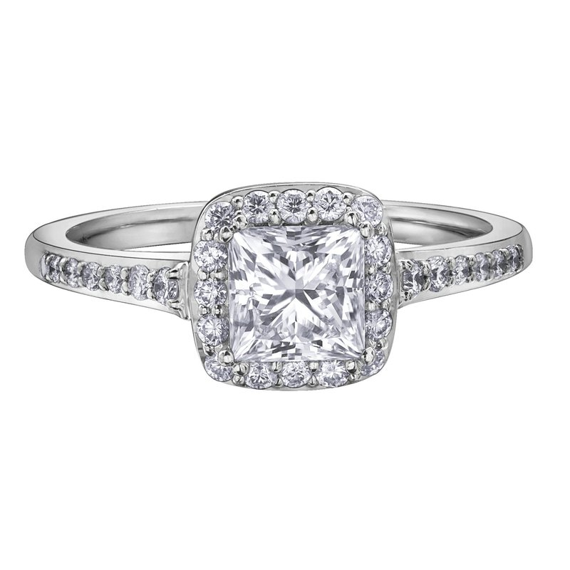 Maple Leaf Diamonds Halo Cushion-Cut Diamond Ring