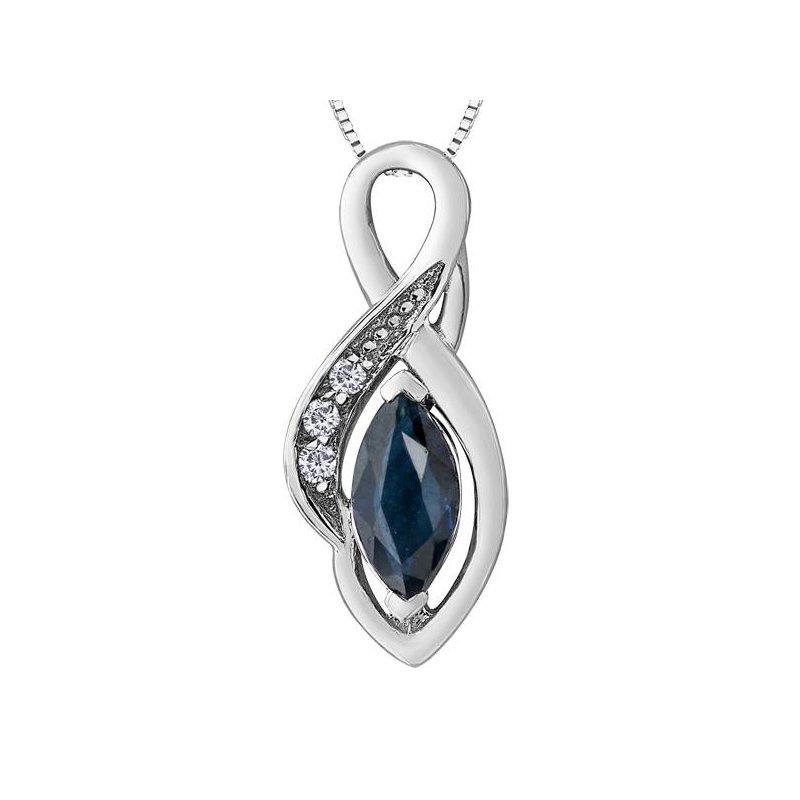 Forever Jewellery Sapphire & Diamond Pendant