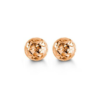 Rose Gold Ball Studs