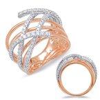 S.KASHI Two-Tone Gold Diamond Ring