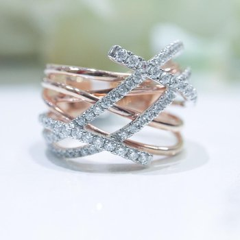 Two-Tone Gold Diamond Ring
