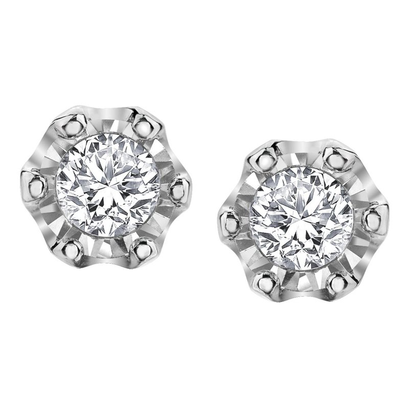 Corona Solitaire Earrings