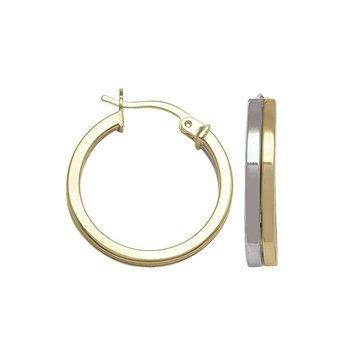 14K Two-Toned Hoop Earrings
