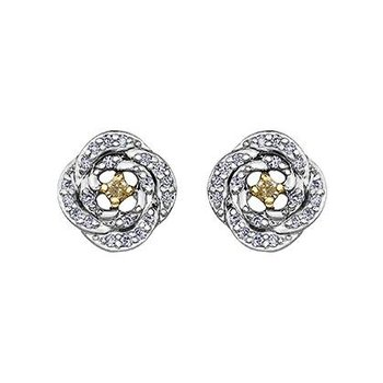 Maple Leaf Diamond Fancy Yellow Diamond Earrings