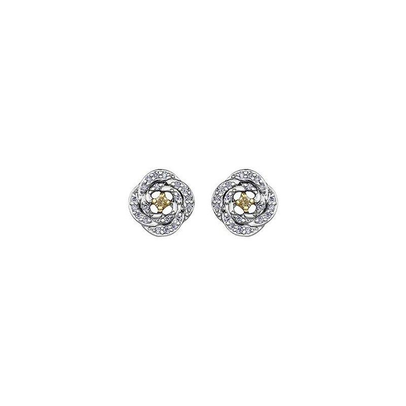 Maple Leaf Diamonds Maple Leaf Diamond Fancy Yellow Diamond Earrings