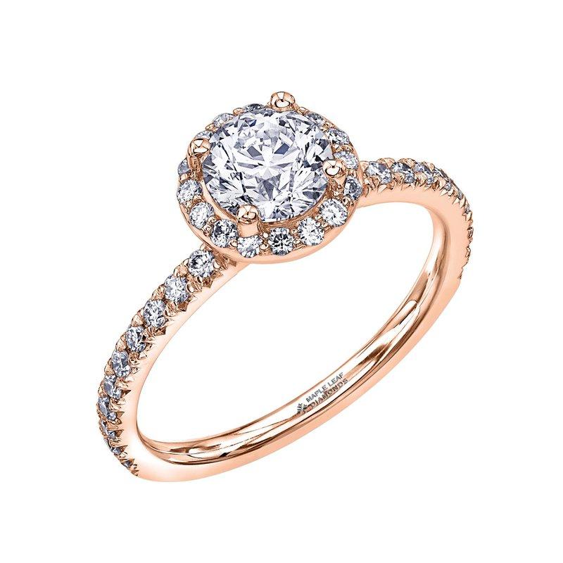 Maple Leaf Diamonds Rose Gold Diamond Halo Ring