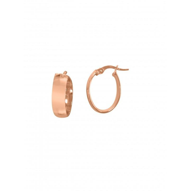Richardson Signature 14K Rose Gold Small Oval Hoops