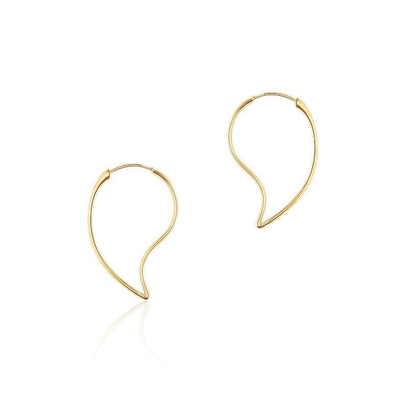 Bijoux Birks BIRKS PÉTALE Yellow Gold Hoop Earrings