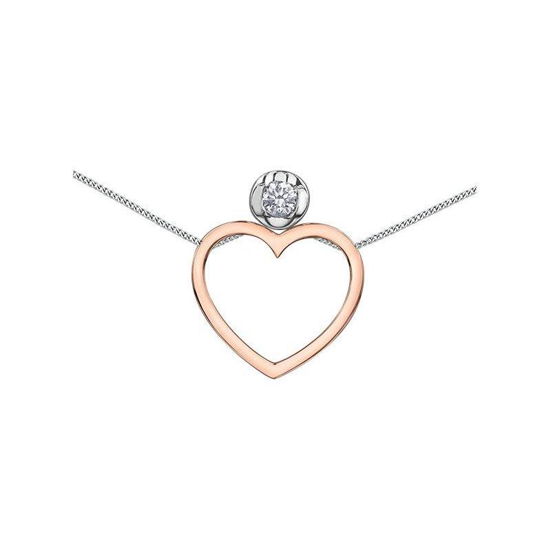 Diamond Days Heart & Diamond Solitaire Pendant