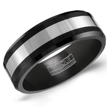 Tungsten/ Black Ceramic Band