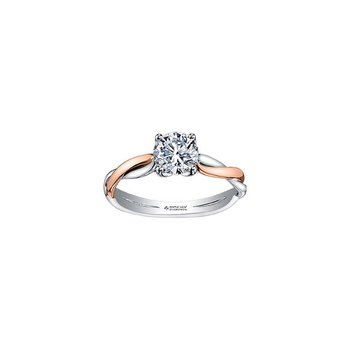 0.31CT Two-Tone Engagement Ring