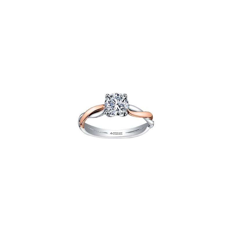 Diamond Days 0.31CT Two-Tone Engagement Ring