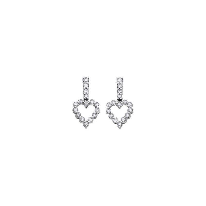 Diamond Days Heart Diamond Earrings