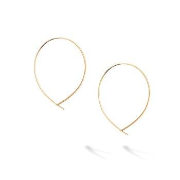 BIRKS ESSENTIALS Yellow Gold Crossover Hoop Earrings