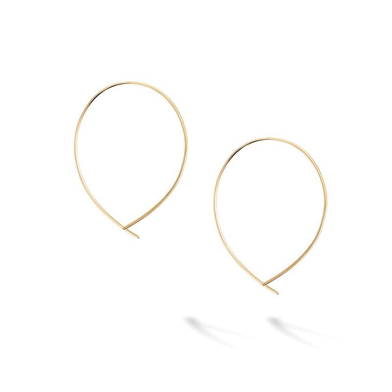 Bijoux Birks BIRKS ESSENTIALS Yellow Gold Crossover Hoop Earrings