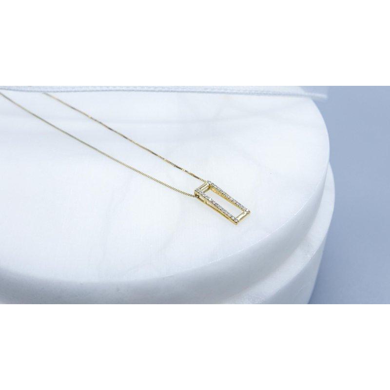 Diamond Days Yellow Gold Diamond Pendant