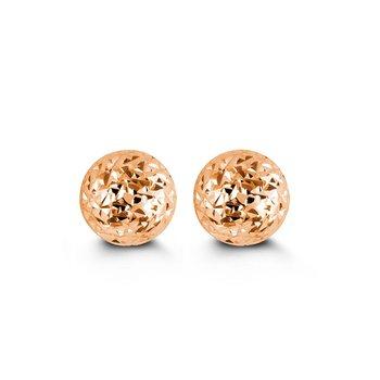 Rose Gold Ball Studs