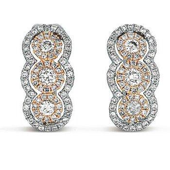 Two-Toned Diamond Earrings