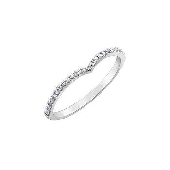 WHITE GOLD 'V-SHAPE' DIAMOND RING