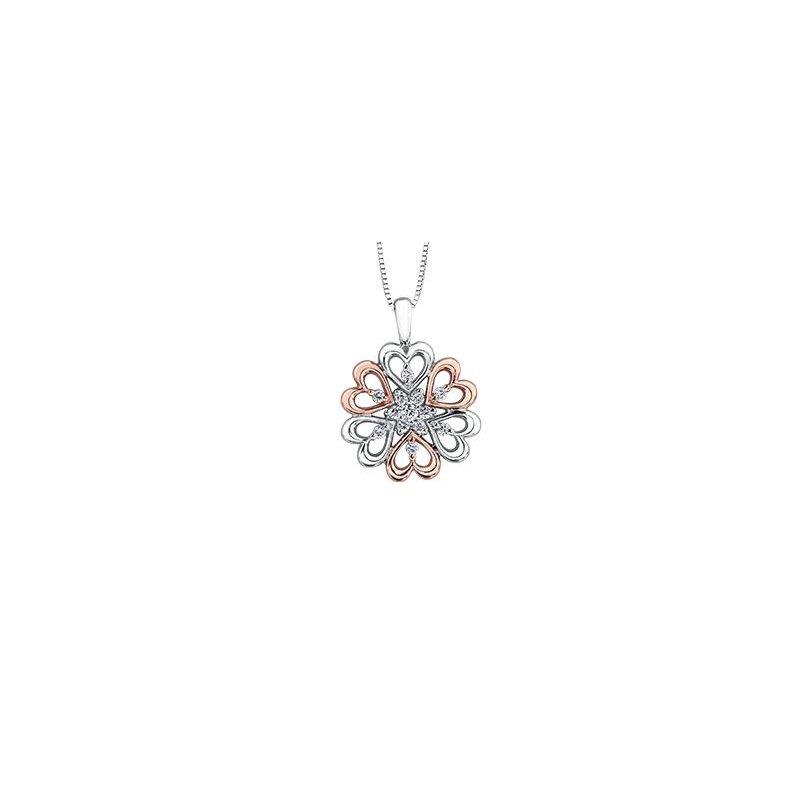 Diamond Days Rose & White Gold Pendant