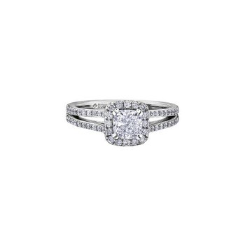 1.01CT Halo Engagement Ring