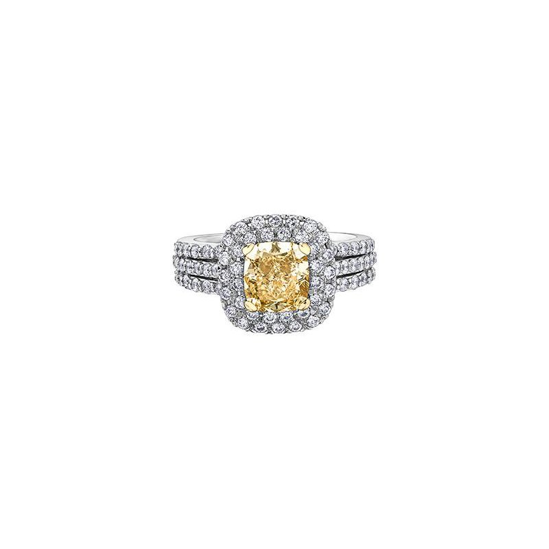 Maple Leaf Diamonds Fancy Yellow Diamond Ring