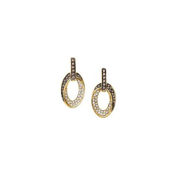 BROWN & WHITE DIAMOND EARRINGS