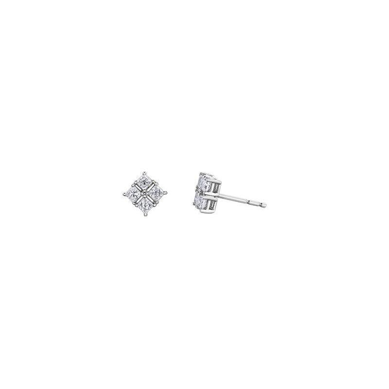 Maple Leaf Diamonds Princess-Cut Diamond Studs