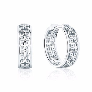 MUSE- 15mm Silver Hoop Earrings