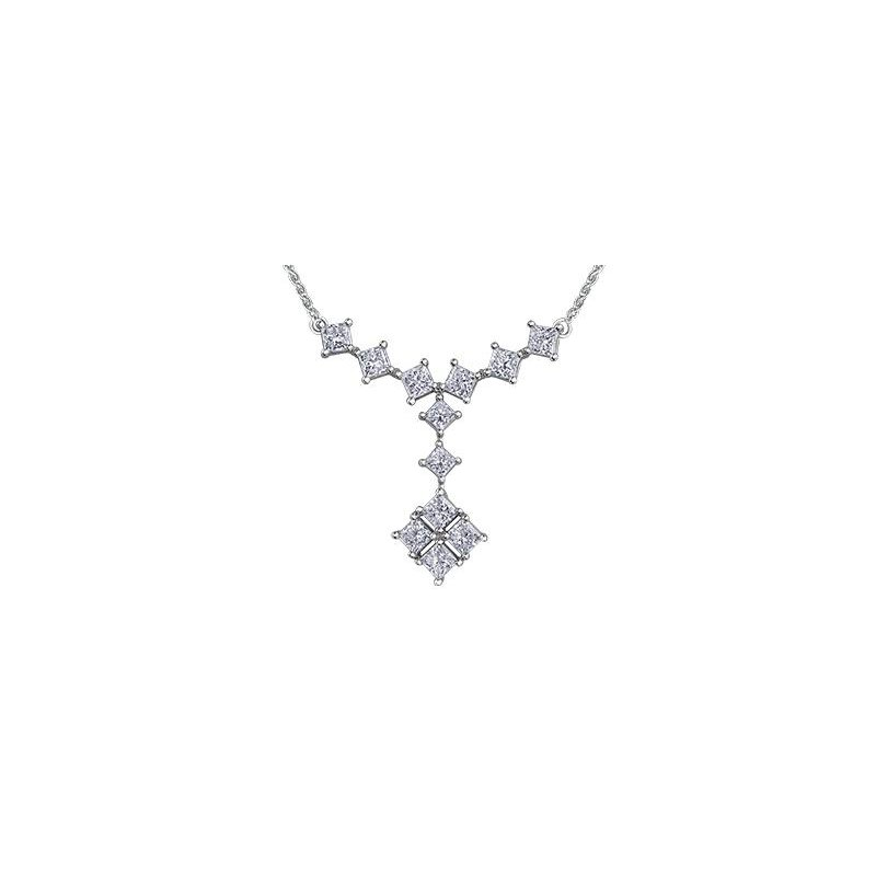 Maple Leaf Diamonds Diamond Drop Necklace