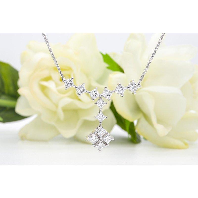 Maple Leaf Diamonds Diamond Drop Necklace