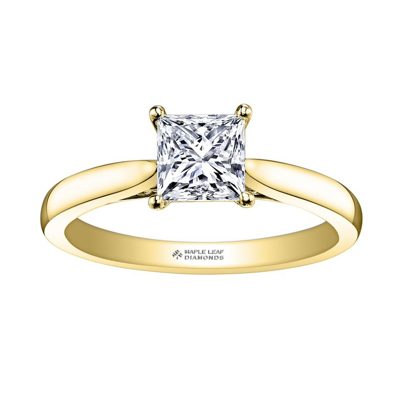Maple Leaf Diamonds Princess-Cut Solitaire Diamond Ring