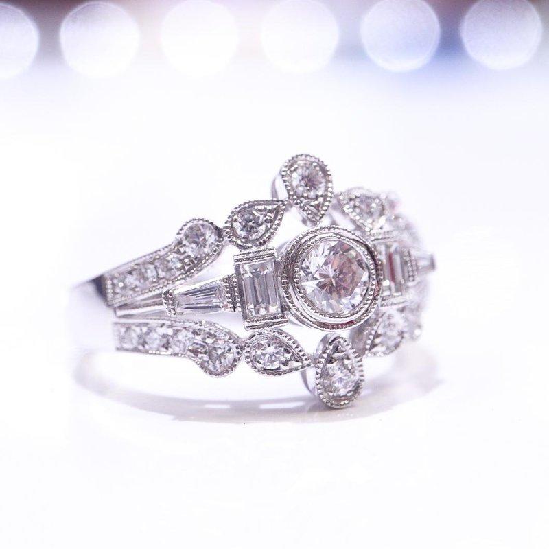S.KASHI Vintage-Inspired Diamond Ring