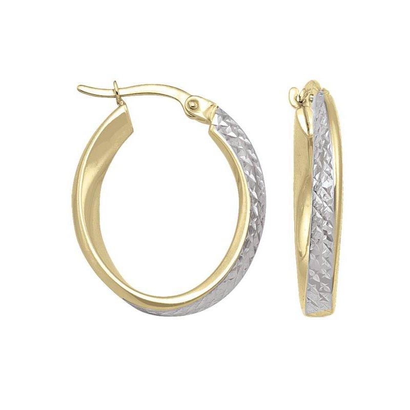 Richardson Signature 14K Two-Toned Hoop Earrings