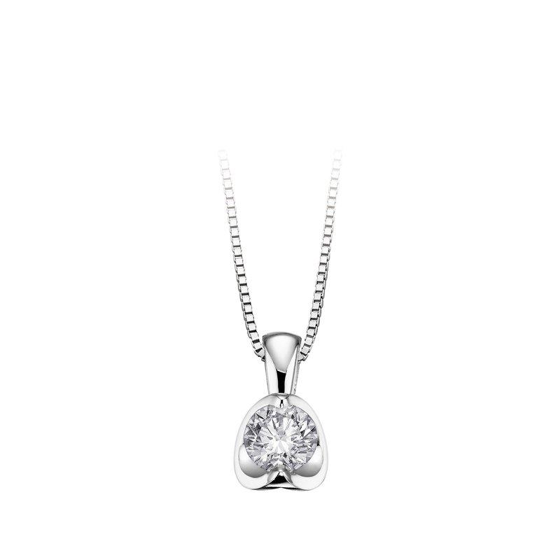 Maple Leaf Diamonds Canadian 0.10CT Diamond Solitaire Pendant