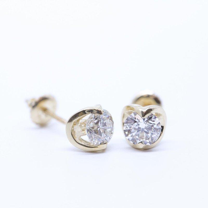 Maple Leaf Diamonds 0.50CTW Canadian Diamond Solitaire Earrings