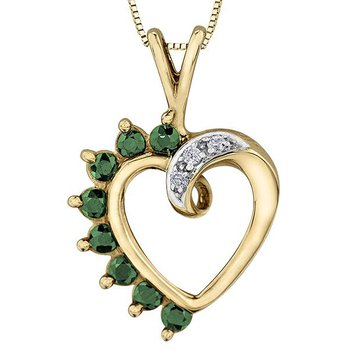 Emerald Heart Pendant