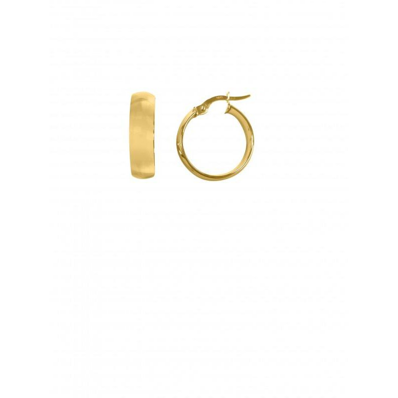 Richardson Signature 14K Yellow Gold Dome Hoop