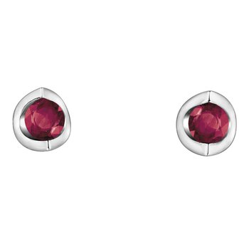 Ruby Solitaire Earrings