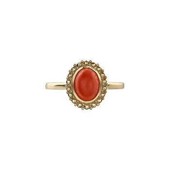 Orange Moonstone Ring