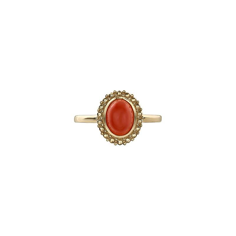 Diamond Days Orange Moonstone Ring