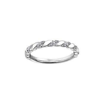 White Gold & Diamond Twist Ring