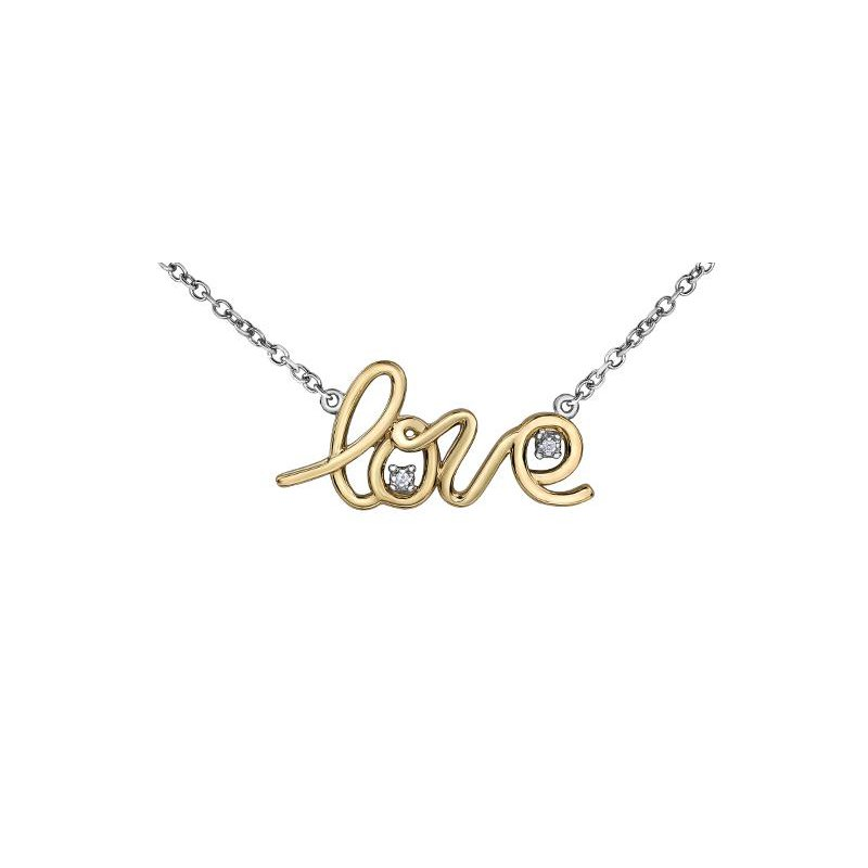 Diamond Days Two-Toned LOVE Necklace